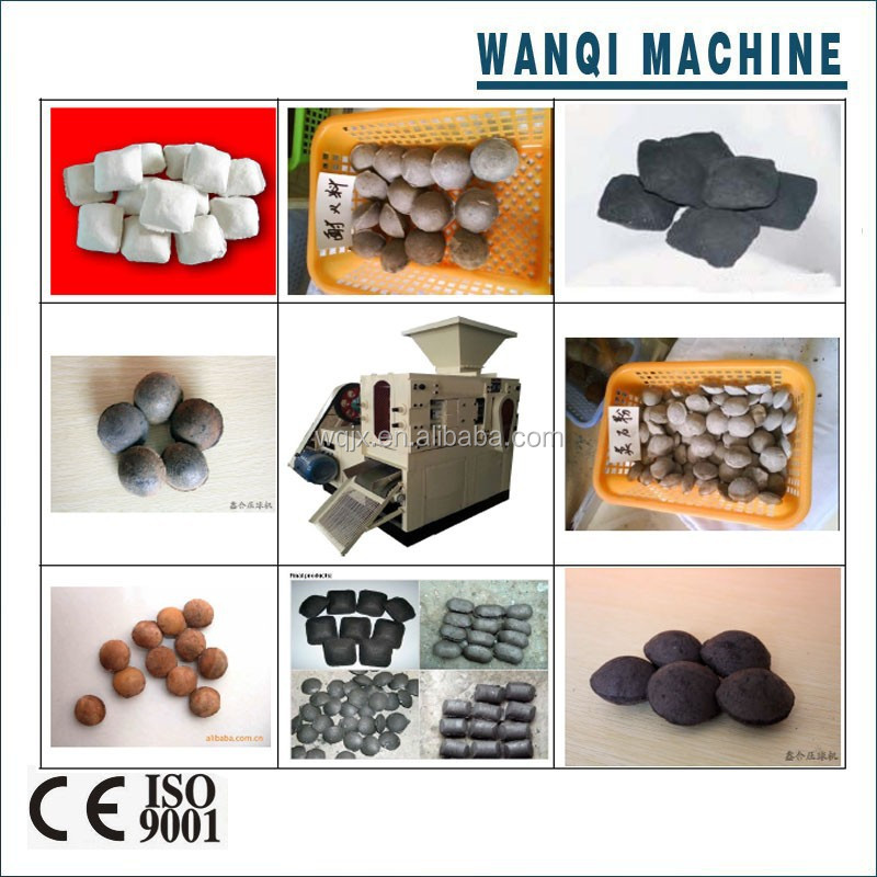 Compact structure charcoal powder briquette machine/mineral ball press machine with high performance and long service life