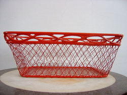 small metal basket PVC coating fruit basket
