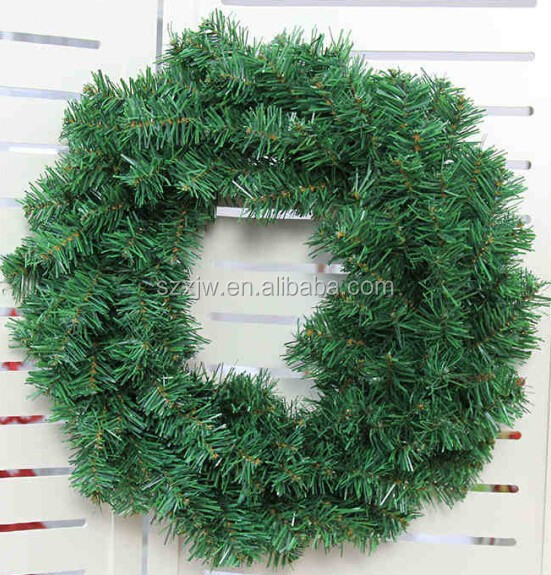 green pvc wholesale artificial christmas wreaths