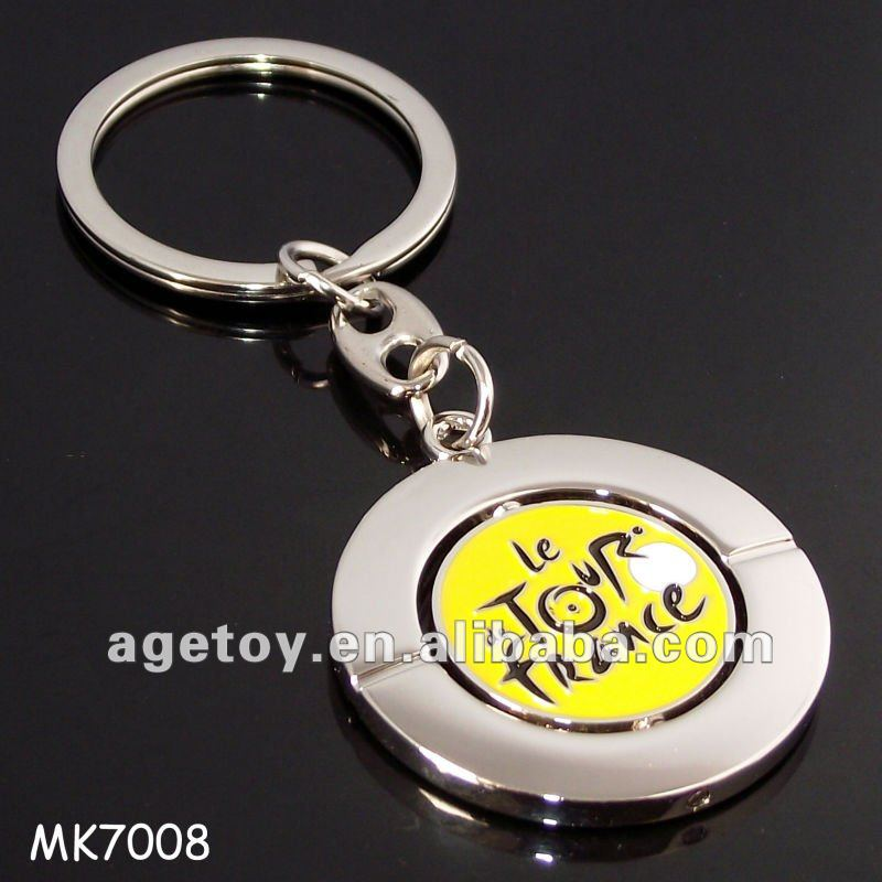 Tour De France Customized Metal Spin Key Chain