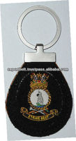 Key Chain and Key Fob Military Hand Embroidery | Premium Handicraft Gift for Him | Leather Key Chain
