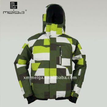 2013 winter men's fashionable printed ski jacket