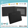 Slim Leather Wallet Carbon Matte Leather Wallet Designer Custom Carbon Fiber Leather Wallet