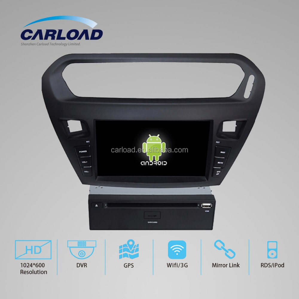 Android 4.4/5.1 quad core car dvd 8inch Auto Radio for Peugeot 301