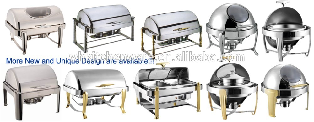 Deluxe Roll Top brass & copper chafing dish
