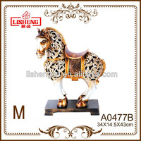 Resin horse sculptures promotional items gift articles decoration A0477B