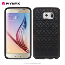 IVYMAX hot sell new design super thin colorful leather skin back protective cell phone case for samsung galaxy s6
