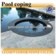 Black basalt swimming pool coping stone