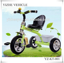 2016 China factory hot sale cheap baby kids tricycle / solid foam tire kids tricycle with back seat