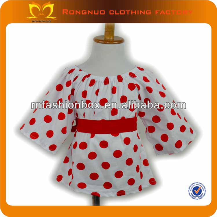 2013 new design fashion baby dress baby girl party dress children frocks designs red and white polka dot dress