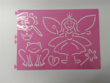 100% eco-friendly PP Plastic kids drawing stencils