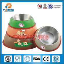 12-18cm multi size round stainless steel printed dog bowl, pet food holder
