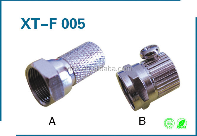 Rg-6 male F Connector Crimp