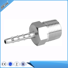 Male Thread Pipe Fitting x Barb Hose Tail Connector Adapter Stainless Steel NPT