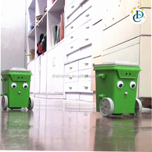 Self assembly toys education DIY rubbish bin robot kit