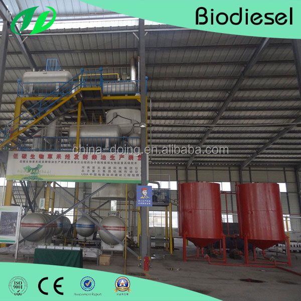 Complete technical process for used vegetable oil to biodiesel production line