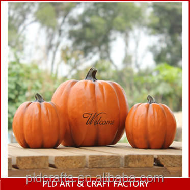 resin/cement halloween decoration pumpkins figure for halloween party