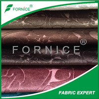 100% Polyester 3D Embossing Loop backing Luxury Kindly Shade Sofa Fabric
