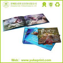 China hot sale custom made hard cover book printing glass cover adult comic cheap photo book