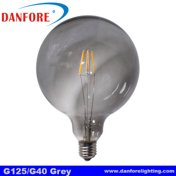Alibaba wholesale Smoked grey glass cover G40 G125 led bulb