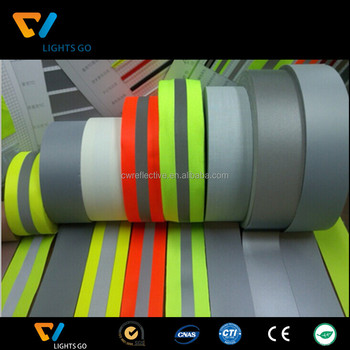 hi vision fluorescent EN469 flame retardant reflective fabric tape