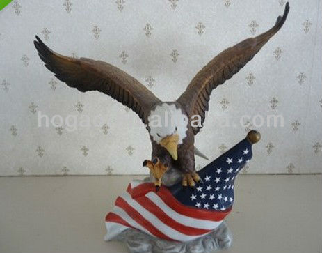 eagle resin sculpture, resin eagle