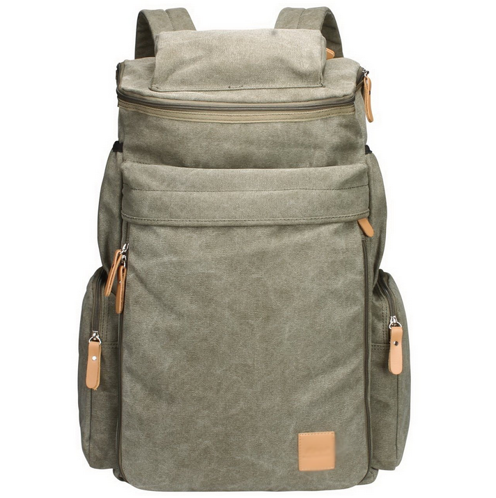 Multi-Function Vintage Canvas Rucksack Backpack Hiking Travel Military Backpack Messenger Tote Bag
