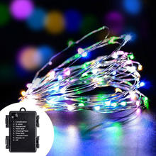 3*AA Battery Operated Remote Control Copper Wire LED submersible micro Fairy string light LED seed light for vase decoration