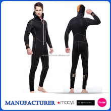blind stitch wetsuit 5mm men's long sleeve diving suit with hood