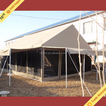 Newest Brown Canvas Restaurant Tent, Big Canvas Camping Tent