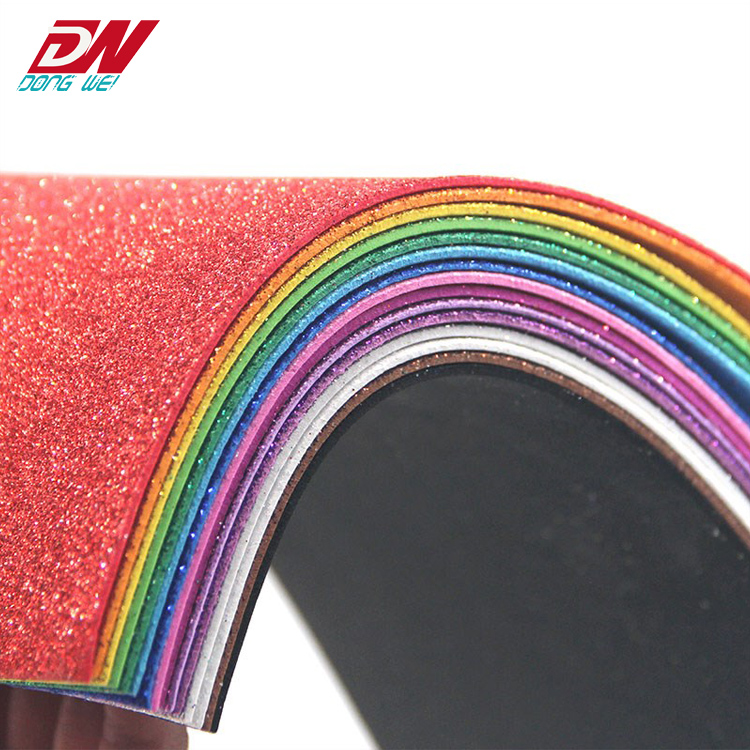 eva foam bright colored handmade glitter <strong>plastic</strong> sheet Children DIY handmade <strong>materials</strong>
