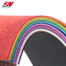 eva foam bright colored handmade glitter <strong>plastic</strong> sheet Children DIY handmade materials