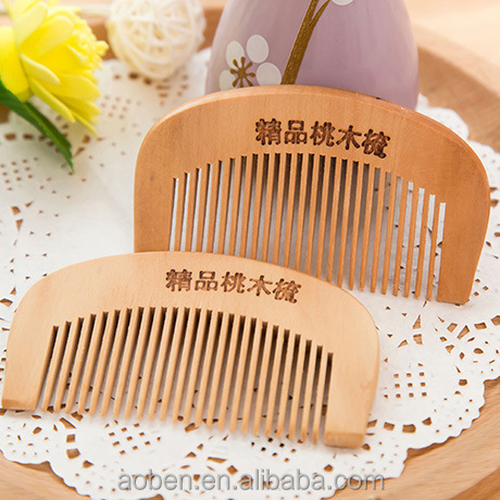 cheap personalized qualify hair wooden beard comb