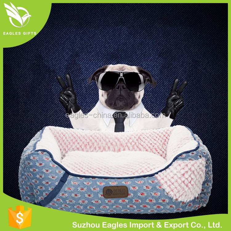 New Product Soft Plush Sofa Bed Luxury Pet Dog Beds China Manufacturer