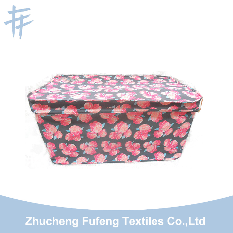 wholesale canvas collapsible storage box with lids