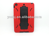 2013 new products rubber hybrid shock proof heavy duty stand holder case for ipad mini with stylus pen china manufcturer