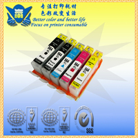 hot sell refillable ink cartridge 564 with chip for HP use in PhotoSmart B8500, B8550, B8553, B8558, C309, C309a, C309g