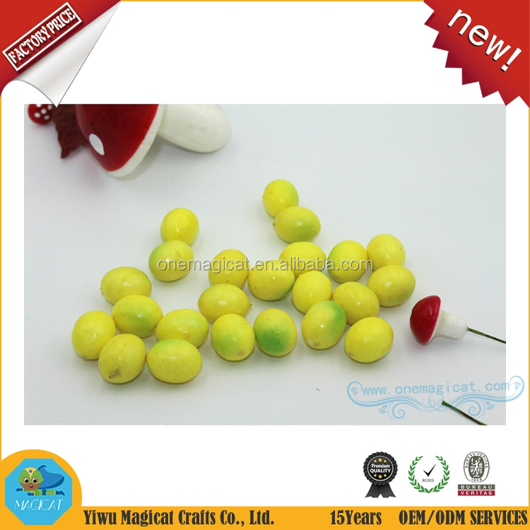 20mm and 25mm fake artifical yellow lemon home festival decoration fruit and children DIY