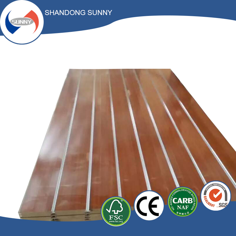 Melamine slotted mdf board for walls