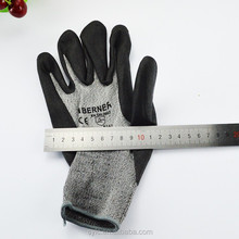 Cow Split Leather Reinforced Palm HPPE Cut Resistant Gloves