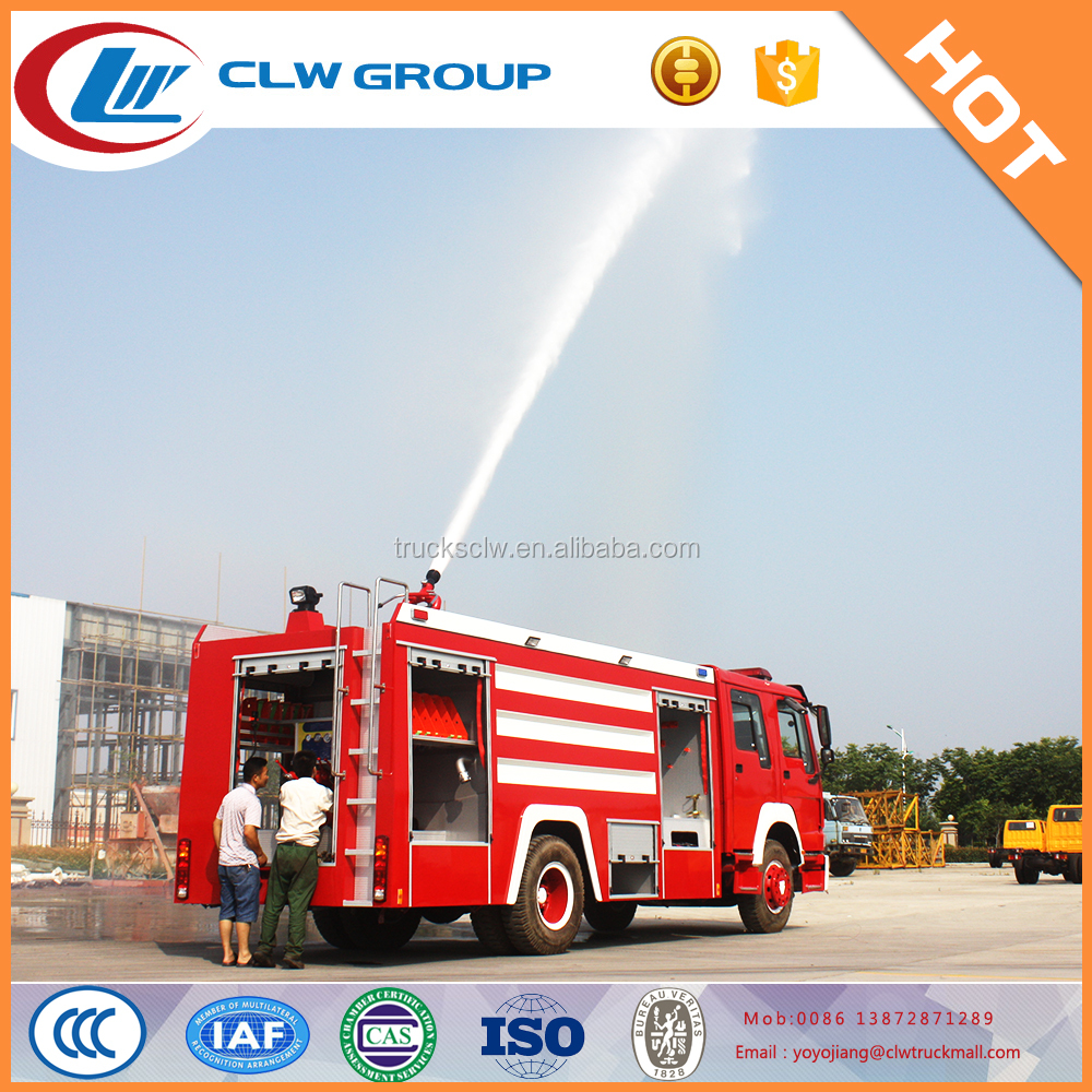 SINOTRUCK HOWO 6 L water tanker fire engine