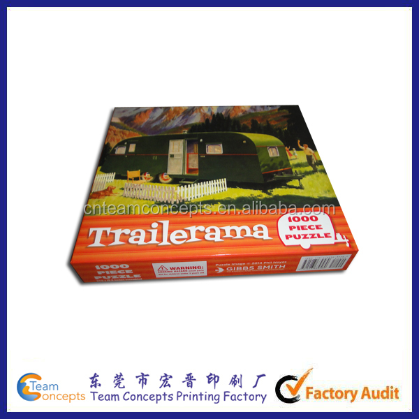 Paper Cardboard Educational Games Puzzle