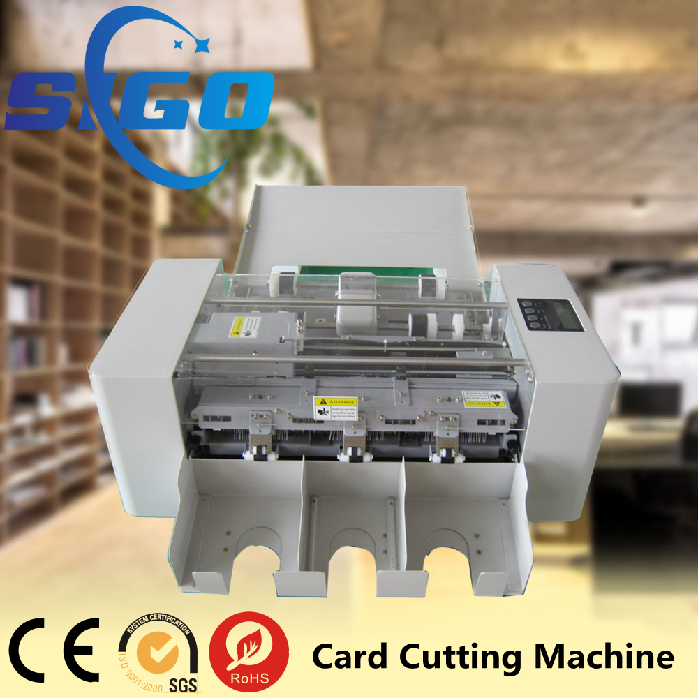 SG-002-I a4 size name card cutter custom pvc die cutter