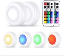 LED Closet Lights <strong>RGB</strong> 13 Colors 3 Modes Fairy Lights Wireless Under Cabinet Lighting (6LIGHT A SET )