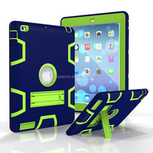 3 in 1 Shockproof Heavy Duty Hybrid Kickstand Plastic Hard Case For Ipad Mini 4