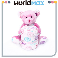 Festival Gift Pink Bear Beautiful Plush Baby Blanket