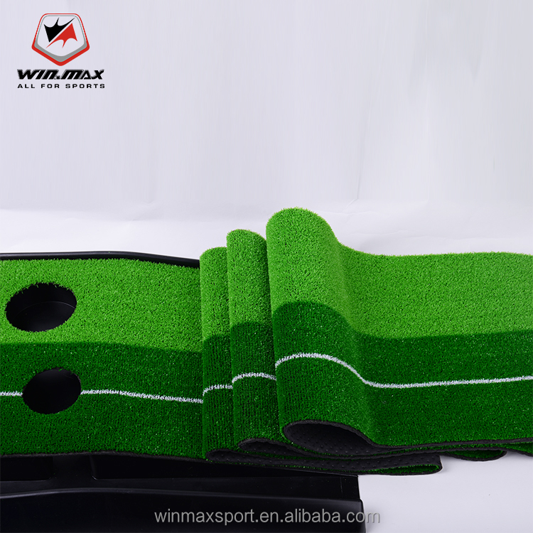 Winmax 3M Ball Return indoor putting green Double hole in practice golf putting mat