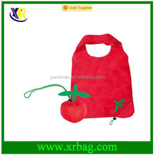 Apple Fruit Shape Eco-friendly Folding Polyester Reusable Convenience Shopping Bag Grocery Storage Promotion Gift Bag