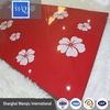 16mm Thick High Gloss UV MDF / WQ Flower Design Panel Sheet