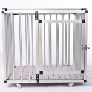 Factory Direct High Quality Pet Foldable Trolley Aluminum Dog Cage